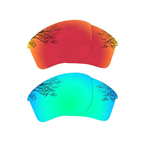 - Dynamix Polarized Replacement Lenses for Oakley Half Jacket 2.0 XL - Multiple Options (Fire Red + Emerald Green, Polarized Enhanced)