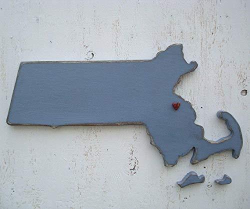 Usa Wall Boston (pick ANY state of USA Massachusetts state wood wall art)