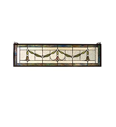 Meyda Tiffany 98102 Garland Swag Stained Glass Window, 31...