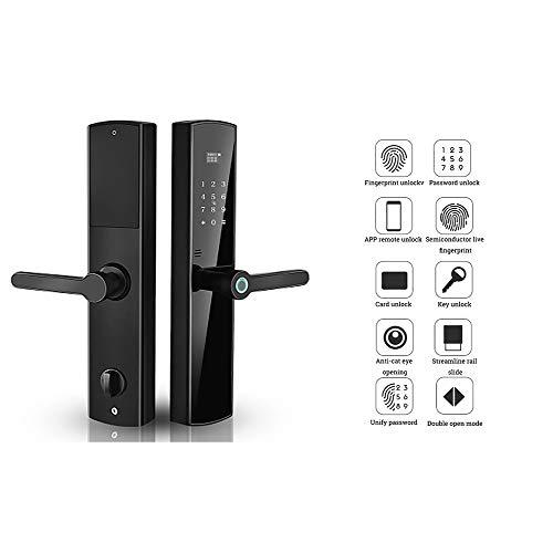 Smart Door Lock, 6 Ways to Unlock, Fully Automatic Digital Keypad Lock Biometric Fingerprint Electronic Locks, Home Security Door Lock (Right)