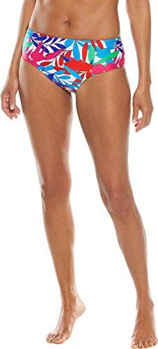 Coolibar UPF 50+ Women's Swim Bottoms - Sun Protective (X-Large- White Majestic Palms) (Stretch Reversible Skirt)