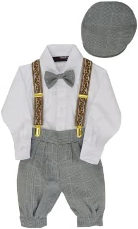 Gino Giovanni Baby Boys Vintage Knickers Outfit Suspenders Set