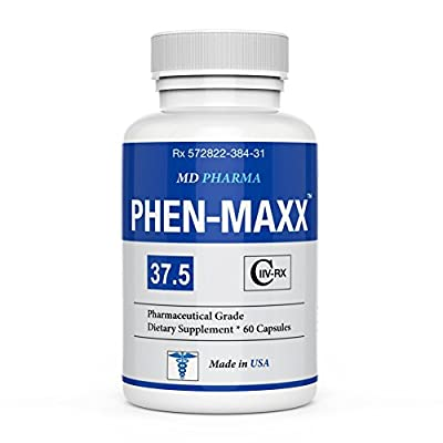 PHEN-MAXX 37.5 ® (Pharmaceutical Grade OTC - Over The Counter - Weight Loss Diet Pills) - Advanced Appetite Suppressant - Increase Energy - Clinically Proven Ingredients