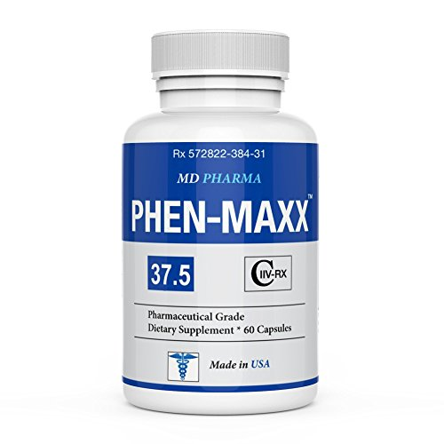 PHEN MAXX 37.5 ® - Weight Loss Pills - Fat Burner - Diet Pills - Appetite Suppressant - Diet Pills That Work Fast for Women and Men - Carb Block - Keto Friendly (Best Otc Appetite Suppressant Pills)