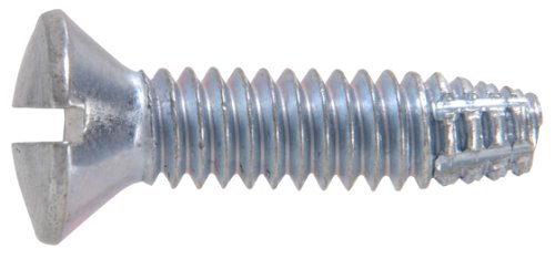 Price comparison product image The Hillman Group The Hillman Group 1054 Zinc Oval Head Slotted Type F Sheet Metal Screw 10-24 x 1 In. 18-Pack