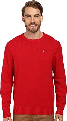 Vineyard Vines Men's Cotton Crewneck Whale Sweater Red Velvet Sweater MD
