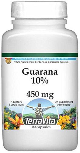 Guarana 10% - 450 mg (100 Capsules, ZIN: 520392) - 3 Pack