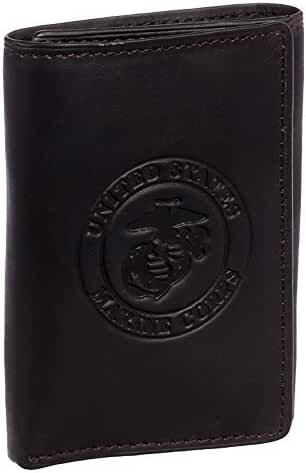 Marine Brown Cowhide Leather Trifold Wallet