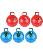 TOYANDONA 4 Parça Hopping Ball Çocuklar için Zıplama Topu, Aslan Kurbağa Desenli Şişme Top Oyuncakları Çocuklar için 22 cm (Rastgele Desen)