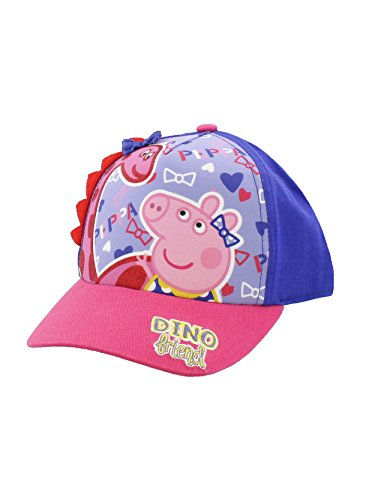Peppa Pig Boys Girls Baseball Cap Hat (One Size, Pink/Purple) -