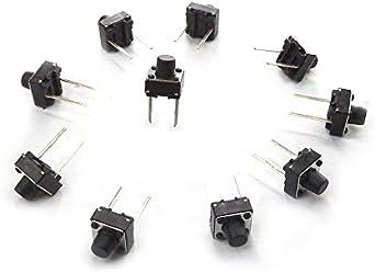 MakerSpot - Botón pulsador táctil para Panel de 2 Pines PCB (6 mm, 10 Unidades): Amazon.es: Informática