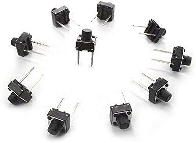 MakerSpot - Botón pulsador táctil para Panel de 2 Pines PCB (6 mm ...