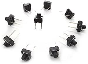 Houseuse PCB Mount Momentary 2 Pin Push Button Tactile Switch 7 x 6 x 9mm