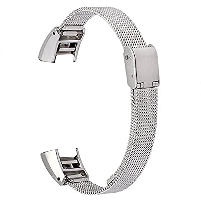 bayite Stainless Steel Mesh Bands for Fitbit Alta, Silver
