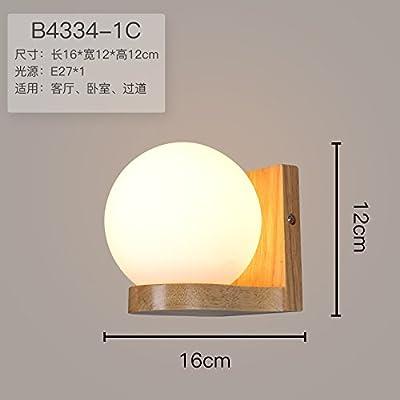 Liyan minimaliste Applique murale Applique E26/27Base The Nordic lampe murale en bois Chambre à coucher lampe de chevet LED