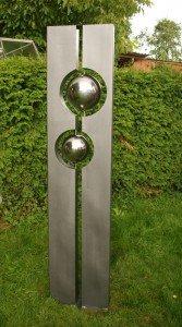Säule Lotti Garten Skulptur Gartendeko Feuerverzinkt Amazonde Garten
