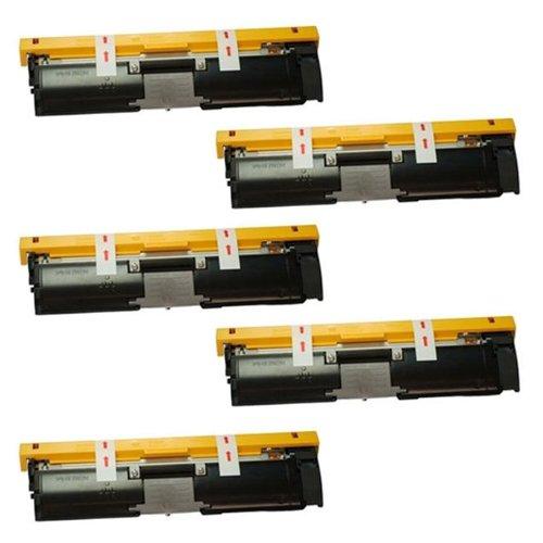 Image of Amsahr 1710587-004 Minolta 1710587-004, 2400W Remanufactured Replacement Toner Cartridge, Set of Five, Black