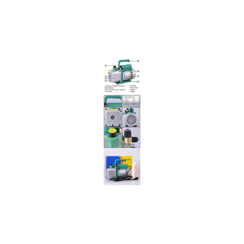 3 CFM Single Stage Rotary Vane Ac Refrigerant Vacuum Pump
