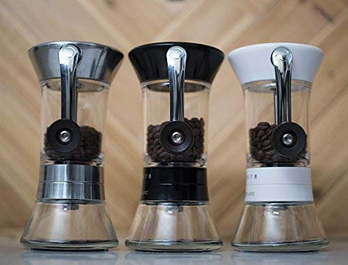 Handground Precision Manual Coffee Grinder: Conical Ceramic Burr Mill (Black)