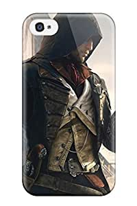 For Iphone 4/4s Premium Tpu Case Cover Assassin's Creed: Unity Protective Case
