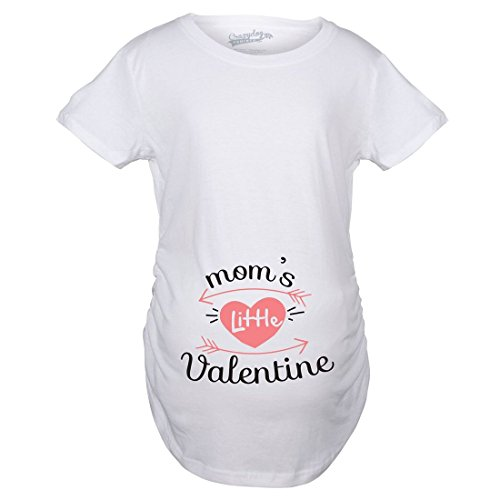 Maternity Moms Little Valentine Cute Funny Valentine's Day Pregnancy T Shirt...