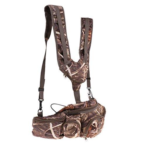 DYNWAVE Multifunction Fishing Pack Tackle Bag Fishing Waist Bag,Adjustable Strap