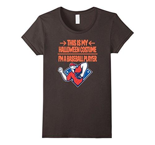Baseball Player Costume Female (Womens Baseball Player Costume Tshirt - Men Women Youth Sizes XL Asphalt)