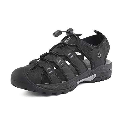 DREAM PAIRS Men's Black Outdoor Sandals Sport Walking Shoes Size 11 M US 181104M