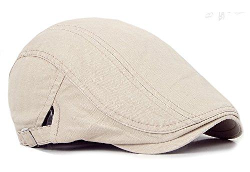 Qunson 2 Pack Men's Cotton Flat Cap Ivy Gatsby Newsboy Hat