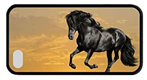 Hipster fancy iPhone 4S covers Black Horse TPU Black for Apple iPhone 4/4S
