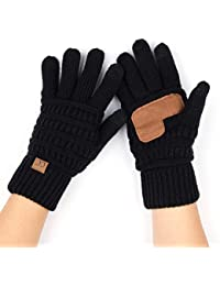 Women Solid Ribbed Glove with Smart Tips (G-20)(G-33)(G-80)
