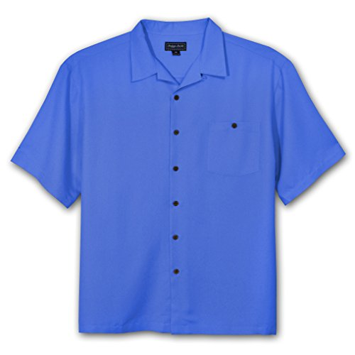 Indygo Smith Big and Tall Rayon Camp Shirt (ROYAL (Big Smith Clothing)
