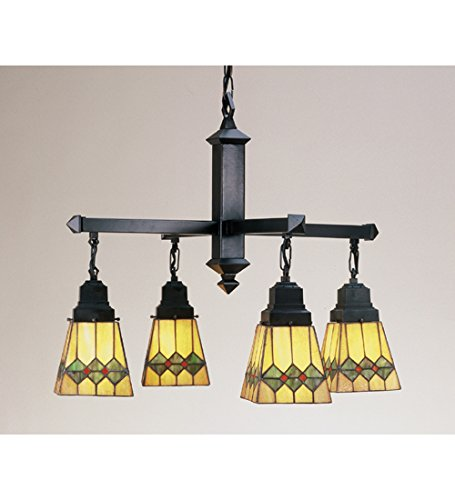 (26 Inch W Martini Mission 4 Lt Chandelier Ceiling Fixture)