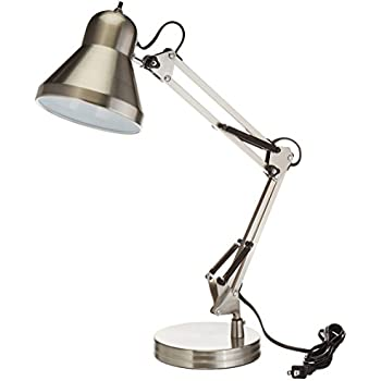 Boston Harbor WK-618E-3L Swing Arm Lamp Holder for Desk Lamp, Brushed Nickel