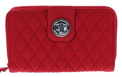 Vera Bradley Turnlock Wallet Clutch Purse in Tango Red ()