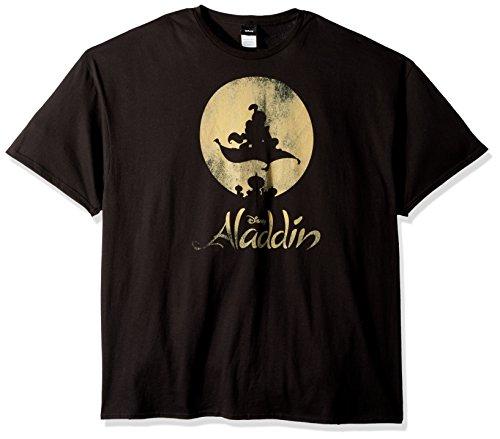 Disney Mens Aladdin New World Classic Logo Poster Graphic T-Shirt