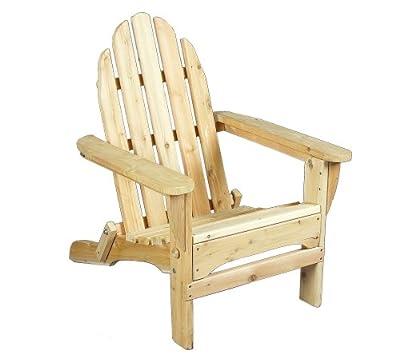 Rustic Natural Cedar Furniture Folding Adirondack Chair