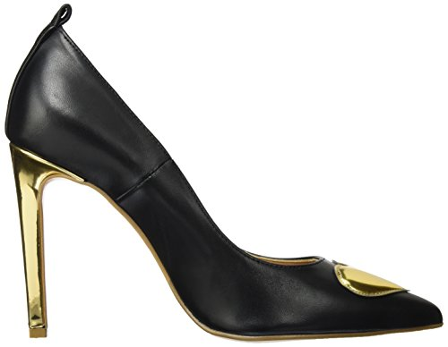 Moschino Black Love Donna Gold Shoe con Multicolore Tacco Scarpe W dw8xqvA8np