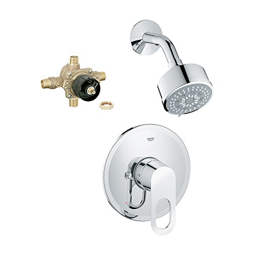 Grohe K27547-35015R-000 Bauloop Shower Combination with Rough-In
