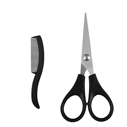Mini Beard Hair Comb & Scissors Men beard care and modeling tool