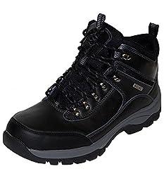 Khombu Mens Summit Hiking Boots Black 10