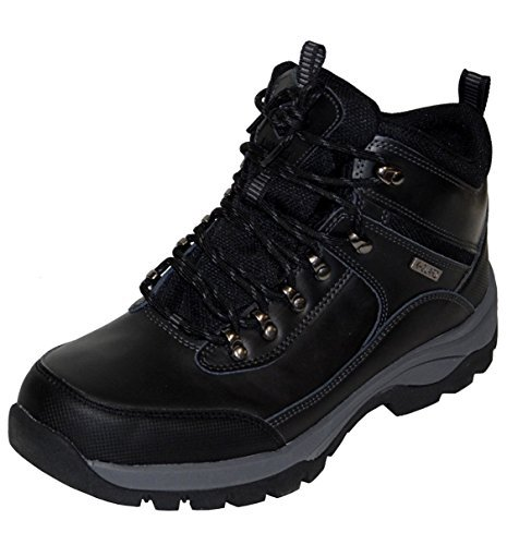 Khombu Summit Men's Leather Hiking Outdoor Tactical Black Boots - Size 10 by Khombu