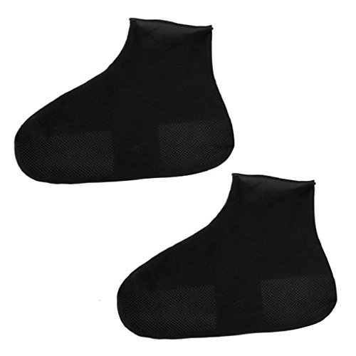 Latex Boot Covers - Buyanputra Outdoor Rubber Latex Disposable Waterproof Dustproof Shoe Covers size L (Black)