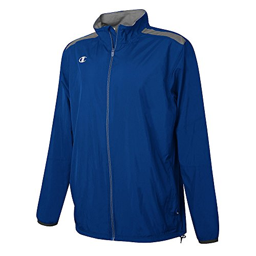 Champion Youth Go-To Full Zip Jacket Athletic Royal/Dark Platnum Grey
