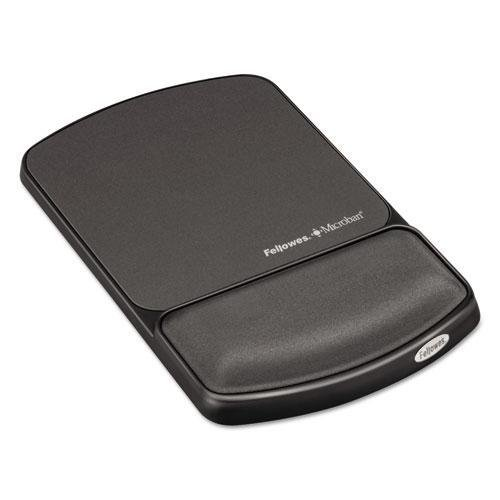 Fellowes Gel Mouse Pad with Wrist Rest - Graphite (9175101 Gel)