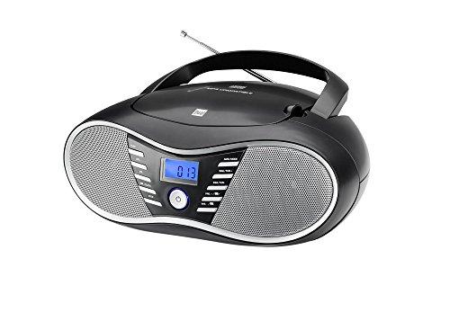 Dual P 60 BT Draagbare Boombox (FM-radio, cd-speler, Bluetooth voor audiostreaming, USB-aansluiting) zwart