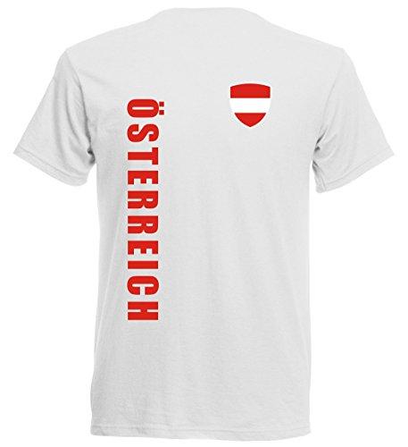 Österreich EM 2016 T-Shirt Trikot - Übergröße 3XL - 5XL - weiss 10