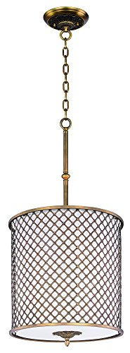 Manchester 1 Light Pendant - Maxim 22367OMNAB Manchester 4-Light Pendant, Natural Aged Brass Finish, Glass, MB Incandescent Bulb , 100W Max., Damp Safety Rating, Standard Dimmable, Glass Shade Material, 2300 Rated Lumens
