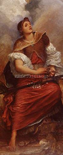 WATTS GEORGE FREDERICK FAITH C1890 6 ARTIST PAINTING REPRODUCTION HANDMADE OIL 28x12inch by Elite-Paintings