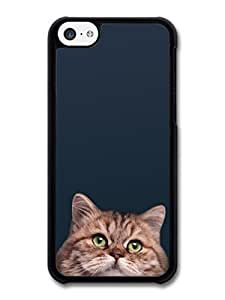 diy phone caseAMAF ? Accessories Cute Cat With Green Eyes On Black Background case for iphone 6 4.7 inch A3010diy phone case